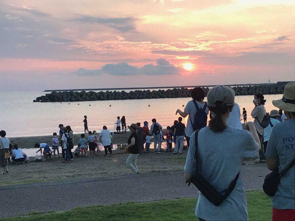 国分浜の日の出